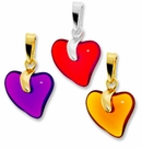 Czech Glass Heart Pendants