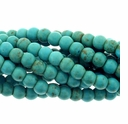 4mm Blue Green Turquoise Howlite Barrel Beads 16 Inch Strand