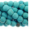 8mm Blue Green Turquoise Howlite Barrel Beads 16 Inch Strand