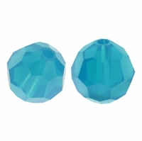 Caribbean Blue Opal 5000 6mm Round Crystal Beads (10PK)