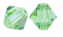 Peridot 4mm Faceted Bicone Crystal Beads 16 Inch Strand