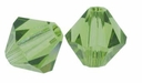 Olivine 4mm Faceted Bicone Crystal Beads 16 Inch Strand