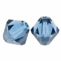 Denim Blue 5328 6mm Swarvoski Crystal Xilion Bicone Beads (10PK)