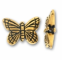 Antique Gold Monarch Butterfly Bead