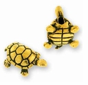 Antique Gold Turtle Bead