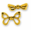 Antique Gold Butterfly Wings Bead