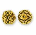 Antique Gold Casbah Round Bead
