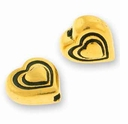 Antique Gold Heart Bead