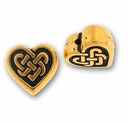 Antique Gold Celtic Heart Bead