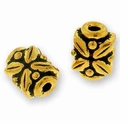 Antique Gold Leaf Bead