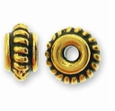 Antique Gold 5mm Coiled Bead