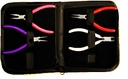 Color Coded 4-Piece Plier Set w/Black Leather  Case