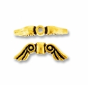 Antique Gold Small Angel Wing Bead