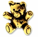 Antique Gold Teddy Bear Bead