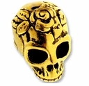 Antique Gold Skull Bead