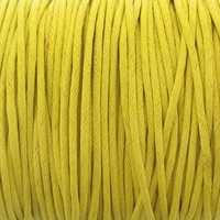 Mustard Yellow 1.5mm Waxed Cotton Craft Cord (1YD)