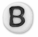 White Glass Czech Letter B (10PK)