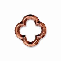 Antiqued Copper Medium Quatrefoil Link