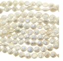 White Coin FreshwaterPearl 9mm Bead Strand