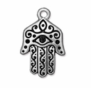 Antique Silver 26mm Hamsa Pendant