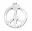 Antique Silver 1 inch Peace Charm