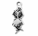 Antique Silver Dancing Senorita Charm