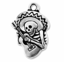 Antique Silver Guitaro Charm