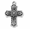 Antique Silver Talavera Cross