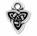 Antique Silver Celtic Triad Drop Charm