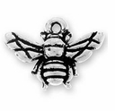Antique Silver Honey Bee Charm