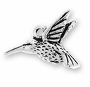 Antique Silver Hummingbird Charm