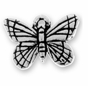 Antique Silver Monarch Charm