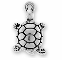 Antique Silver Turtle Charm