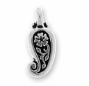 Antique Silver Paisley Charm