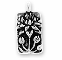 Antique Silver Floating Lotus Charm
