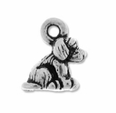 Pewter Silver Dog Charm
