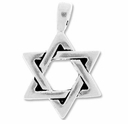 Pewter Silver Large Star Of David