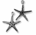 Antique Silver Starfish Charm