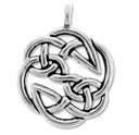 Pewter Silver Open Knot Pendant