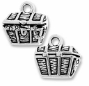 Antique Silver Treasure Chest Charm