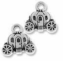 Antique Silver Carriage Charm