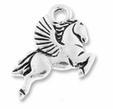 Antique Silver Pegasus Charm