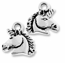 Antique Silver Unicorn Charm