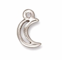 Antique Silver Crescent Moon Charms