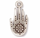 Antique Silver Henna Hand Charms
