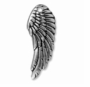 Antiqued Silver Wing Charm