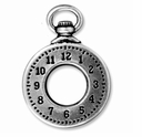 Antiqued Silver Clock Charm