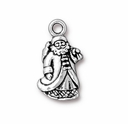 Antique Silver St. Nick Charm