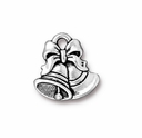 Antique Silver Christmas Bells Charm