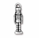 Antique Silver Nutcracker Charm
